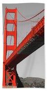 Golden Gate Bridge-touch Of Color Beach Towel