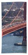 Golden Gate Traffic Beach Towel