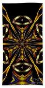 Golden Kaleidoscope Beach Towel