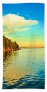Golden Light Beach Towel