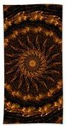 Golden Mandala 1 Beach Towel