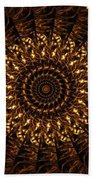 Golden Mandala 3 Beach Towel