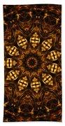 Golden Mandala 6 Beach Towel