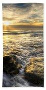 Golden Nuggets Beach Towel