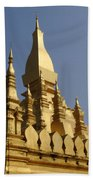 Golden Palace Laos 2 Beach Towel