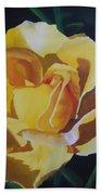 Golden Showers Rose Beach Towel