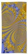 Golden Vortices Beach Towel