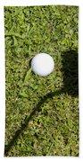 Golf Ball And Shadow Beach Towel