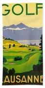 Golfing In Lausanne Beach Towel