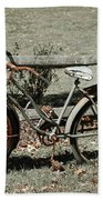 Good Ole Times Bike And Hand Pump Beach Towel
