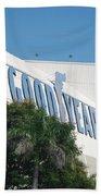 Good Year Blimp Hanger Beach Towel