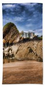 Goscar Rock Tenby 4 Painted Beach Towel