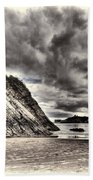 Goscar Rock Tenby Cream Beach Towel