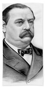 Governor Grover Cleveland - Twenty Second President Of The Usa Beach Towel by International  Images