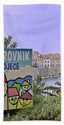 Grad Dubrovnik Beach Towel