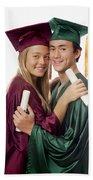 Graduation Couple Beach Towel
