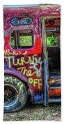 Graffiti Bus Beach Towel