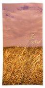Grain Elevator And Crop Beach Towel
