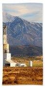 Grain Silo Below Wasatch Range - Utah Beach Towel