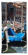Grand Canal Gondolas Painting Beach Towel