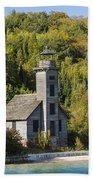Grand Island E Channel Lighthouse 2 Beach Towel