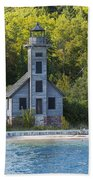 Grand Island E Channel Lighthouse 3 Beach Towel