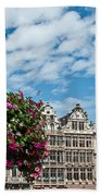 Grand Place Flowers Beach Towel