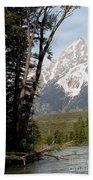 Grand Tetons Vertical Beach Towel