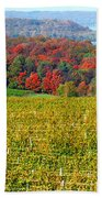 Grand Traverse Winery In Autumn Beach Towel