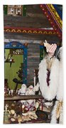 Grandfather Frost Of Russia Beach Towel