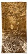 Grants Canal, 1862 Beach Towel