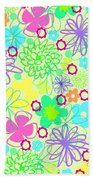 Graphic Flowers Beach Towel