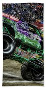 Grave Digger At Ford Field Detroit Mi Beach Towel