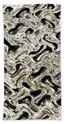 Gray Abstract Swirls Beach Towel