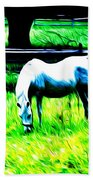 Grazing Horse Beach Towel by Bill Cannon