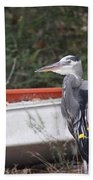 Great Blue Heron - Chicken Of The Sea Beach Towel