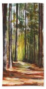 Great Brook Farm Summer Path Beach Towel