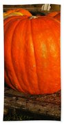 Great Orange Pumpkin Beach Towel