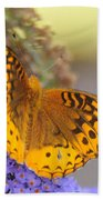 Great Spangled Fritillary Butterfly Beach Towel