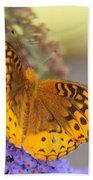 Great Spangled Fritillary Butterfly Beach Sheet
