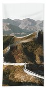 Great Wall Of China, C1970 Beach Towel