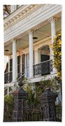 Greek Revival And The Tiny Pink Shoe - Garden District New Orleans Beach Towel