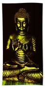 Green And Gold Buddha Beach Towel