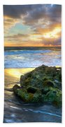 Green And Gold Beach Towel