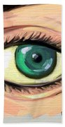 Green Eye Beach Towel