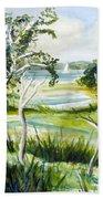 Green Land Beach Towel