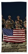 Group Photo Of U.s. Marines Beach Towel