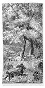 Grouse Hunting, 1855 Beach Towel
