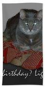 Grumpy Cat Birthday Card Beach Towel