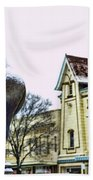 Guard Pigeon And Liberty Theater Beach Towel